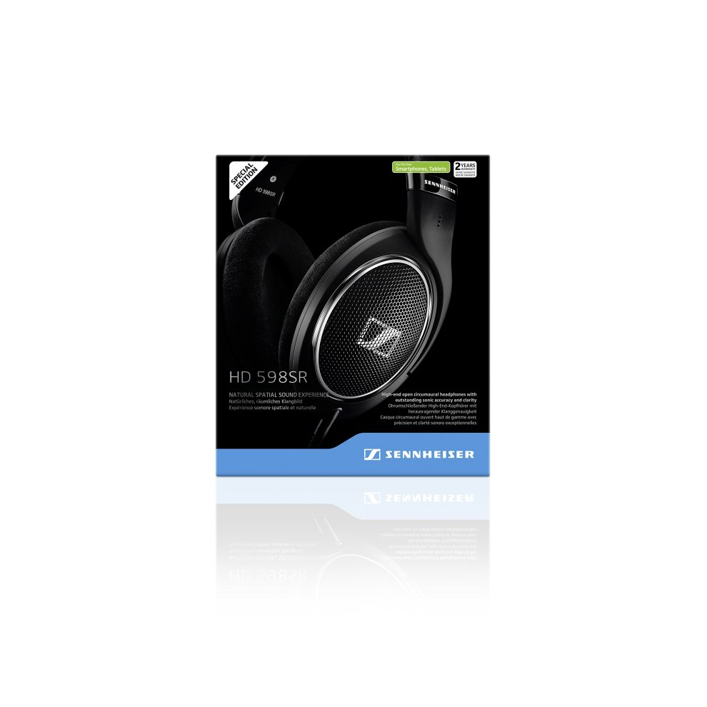 b986d00cc84 ... Sennheiser HD 598SR Over-Ear Headphone with Smart Remote - Black - 5. >