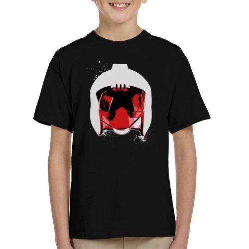 Original Stormtrooper Rebel Pilot Helmet White Paint Splatter Kid's T-Shirt