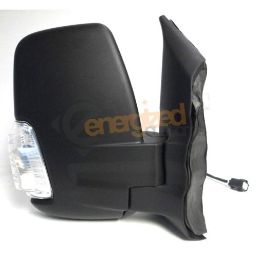 Ford Transit Mk8 (2014 On) Black Manual Short Arm Wing Door Mirror Drivers Side