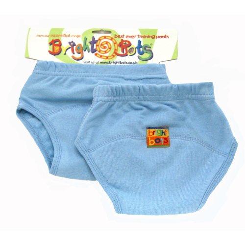 Bright Bots 2pk Washable Training Pants P/Blue
