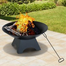 Outsunny 56cm Fire Pit Bowl | Steel Fire Bowl