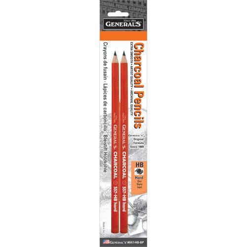 Charcoal Pencils 2/Pkg-HB
