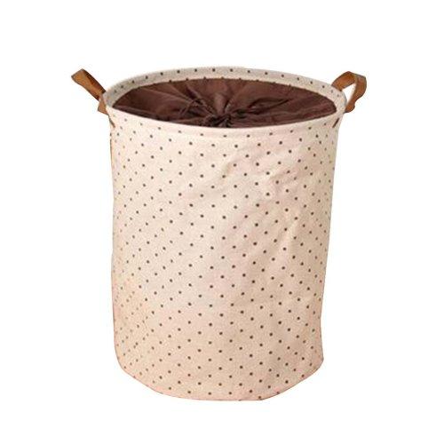 Cotton Linen Laundry Basket Foldable Waterproof Dirty Clothes Basket #5