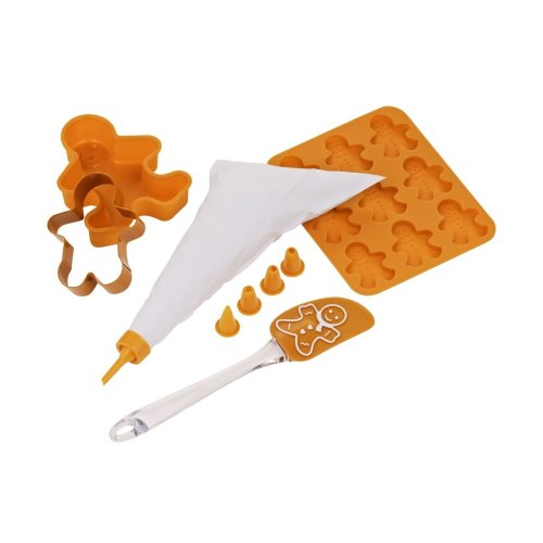 Gingerbread Man Children's Baking Set, 5 Pieces