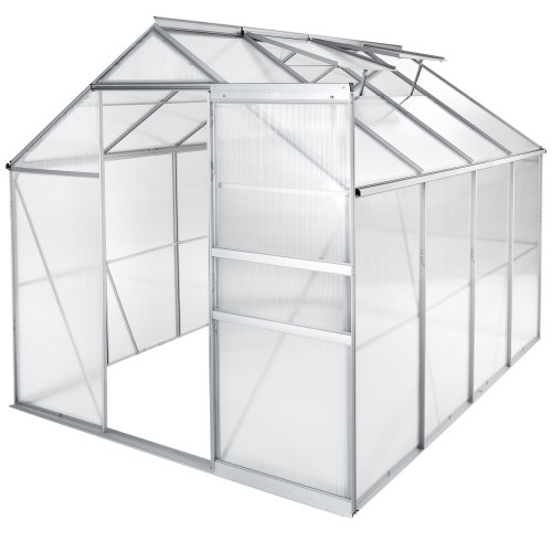 Aluminium greenhouse polycarbonate without foundation 250 x 185 x...