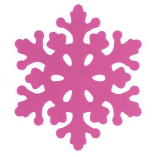 Set of 4 Beautiful Pot Holders Insulation Mats Nonslip Durable Snowflake