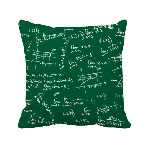 Green Limits Mathematical Formulas Throw Pillow Square Cover