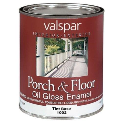 Valspar Brand 1 Quart Tint Base Porch & Floor Oil Enamel Paint  27-1002 QT