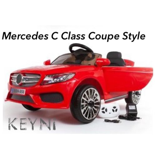12V MERCEDES C CLASS COUPE STYLE KIDS ELECTRIC RIDE ON CAR BATTERY KEYNI