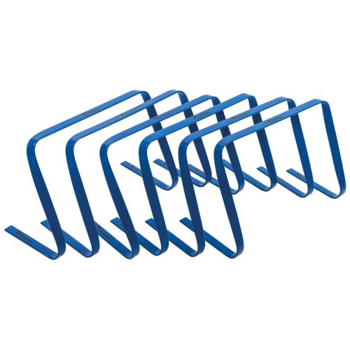 Precision Football Fitness Training Agility Flat Hurdles 12'' Blue (Set of 6)
