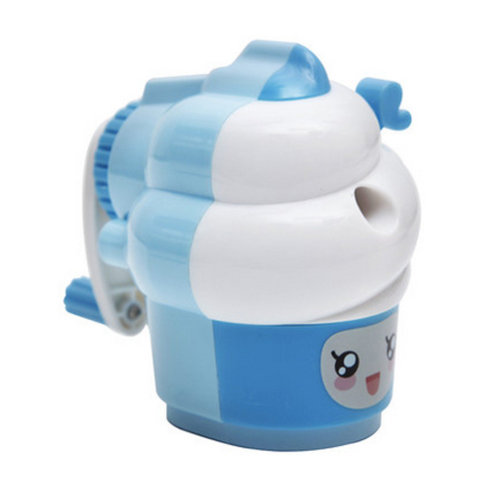 Cute Ice Cream Manual Pencil Sharpener for Office and Classroom ( Blue )