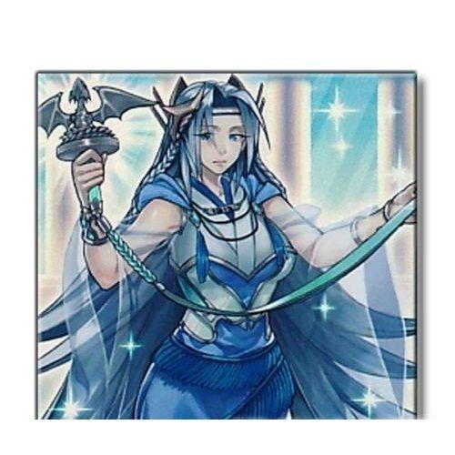 Yu-Gi-Oh! - Priestess with Eyes of Blue (SHVI-EN098) - Shining Victories - 1st Edition - Super Rare