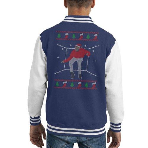Hotline Bling Santa Drake Dancing Christmas Knit Pattern Kid's Varsity Jacket