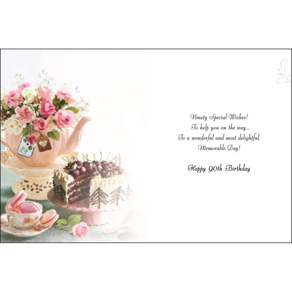 Greeting Card JJ4085 Female 90th Birthday