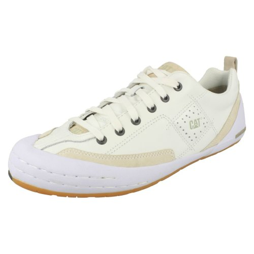 Mens Caterpillar Casual Shoes Tox - White Leather - UK Size 9 - EU Size 43 - US Size 10