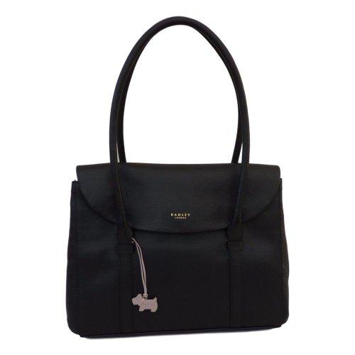 Radley Waterloo Large Black Leather Shoulder Bag