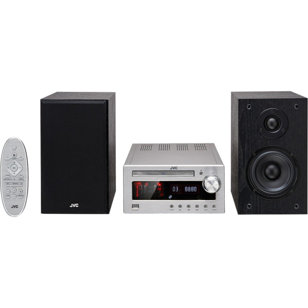 jvc bluetooth micro hifi with cd dab fm radio valve. Black Bedroom Furniture Sets. Home Design Ideas