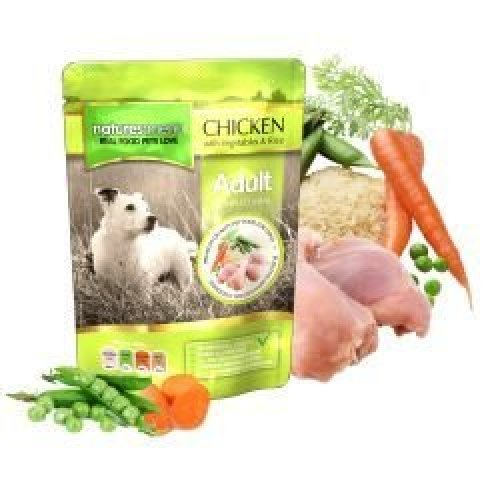 Natures Menu Chicken with Vegetables and Rice Dog Pouches, 8 x 300g