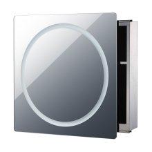 Homcom 2 Tiers Illuminated Led Cabinet Bathroom Mirror Sliding Door (60l X 13d (cm))