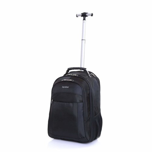 Karabar Aragon Wheeled Laptop Backpack - Black | Wheeled Backpack