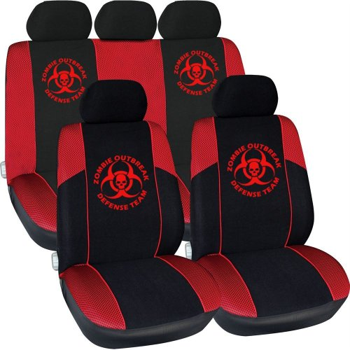 Zombie Outbreak Defense Team  Car Seat Cover Set