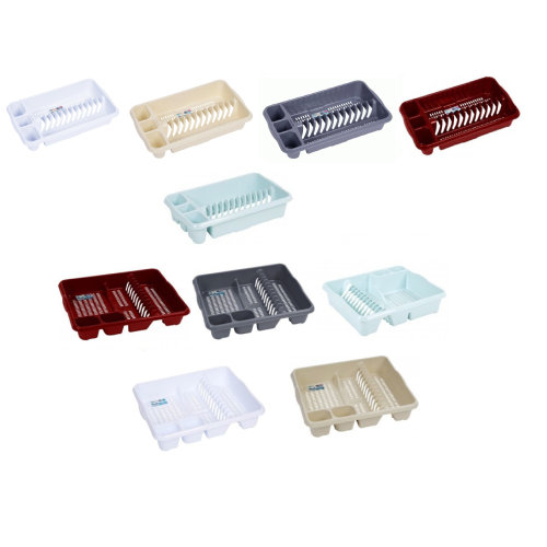 Wham Plastic Dish Drainers Large & Small Plate Holder