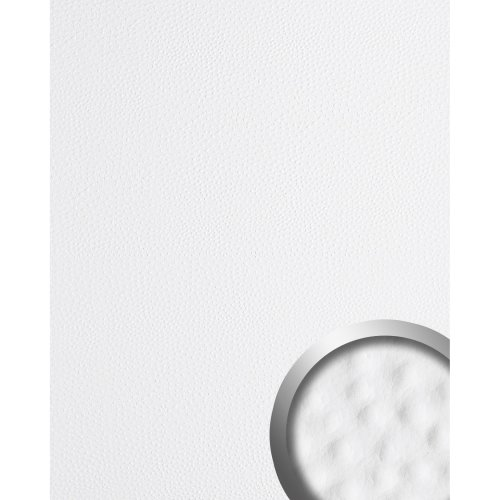 WallFace 13400 OSTRICH Wall panel leather decor self-adhesive white | 2.60 sqm