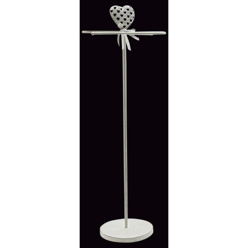 White Heart Design Bathroom Towel Rail Stand