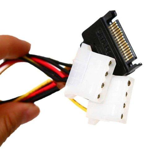 3 x 15 Pin SATA Male to Molex 4 Pin IDE Power Adapter Cable Serial ATA