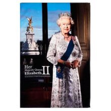 John Swannell Queen Elizabeth II Official Portrait Tea Towel Souvenir Gift New