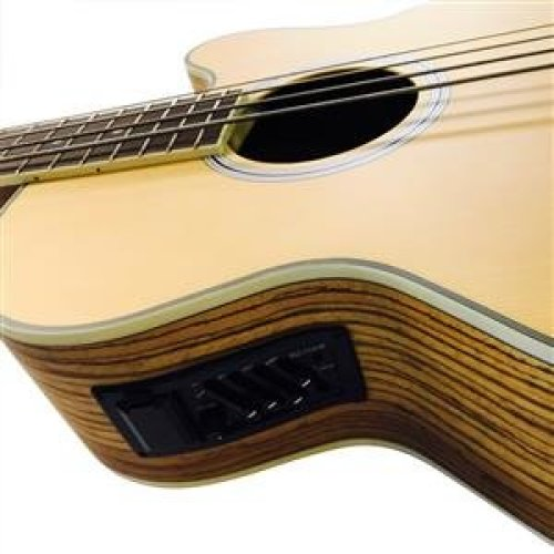 Coban Full Size Electro Acoustic Bass 4EQ Zebrawood