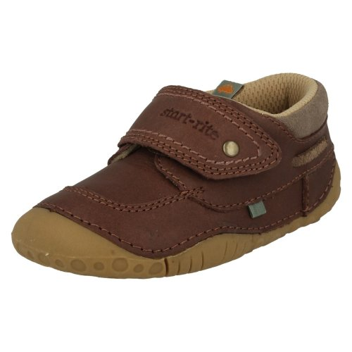 Boys Startrite Pre-Walkers Shoes Poole - Brown Leather - UK Size 2G - EU Size 17.5 - US Size 3