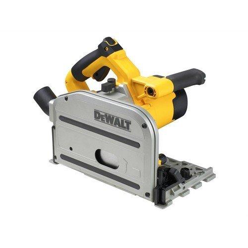 DeWalt DWS520KT-GB- DWS5022 Heavy-Duty Plunge Saw with Guide Rail 1300 Watt 240 Volt