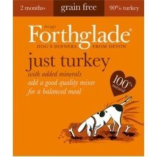 FORTHGLADE 18 x 395 gram trays JUST TURKEY