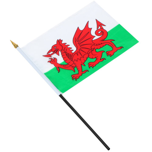 TRIXES Wales Waving Hand Flag Welsh