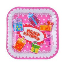 Birthday Party 7 Inch Disposable Plates Paper Plates 20 Count, No.6