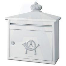 Brabantia B210 Classic Style Post Box - White