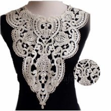 Flower Embroidered Applique Lace Trim
