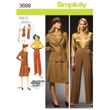 SIMPLICITY MISSES OR PLUS SIZE BLOUSE, S-10 12 14 16 18