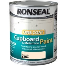 Ronseal One Coat Cupboard Melamine & MDF Paint 750ml - SATIN Magnolia
