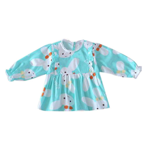 Lovely Girl's Long-sleeves Bib Overalls Feeding Clothes Baby Bibs, C
