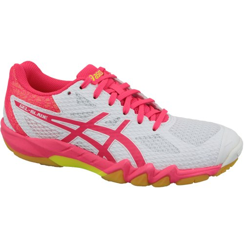 Asics Gel-Blade 7 1072A032-100 Womens White squash shoes