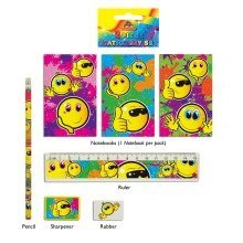 24 Smiley 5-piece Stationery Sets