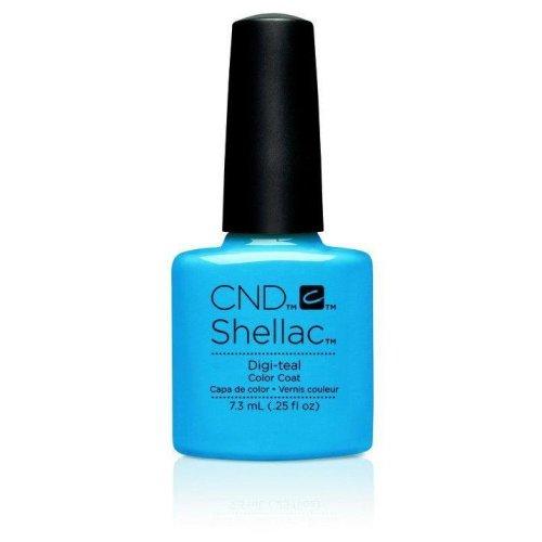 CND Shellac Nail Polish - Digi-teal