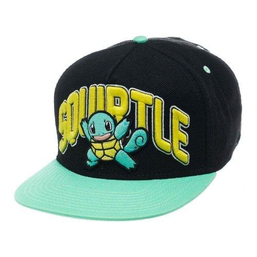 Pokemon Unisex Squirtle Snapback Baseball Cap One Size - Black/Turquoise