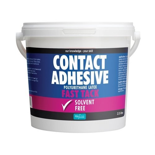 Polyvine ACA2500 Contact Adhesive Solvent Free Fast Tack 2.5 Litre