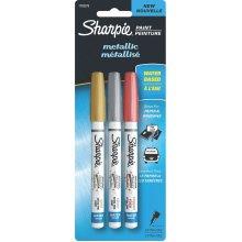 Sharpie Extra Fine Metallic Paint Pens 3/Pkg-Gold, Silver & Copper
