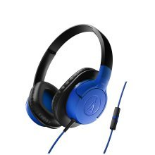 Audio-Technica ATH-AX1iS Blue Headphones