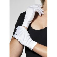 Smiffy's Gloves, White, Short -  short gloves white fancy dress ladies accessory santa captain costume smiffys clown
