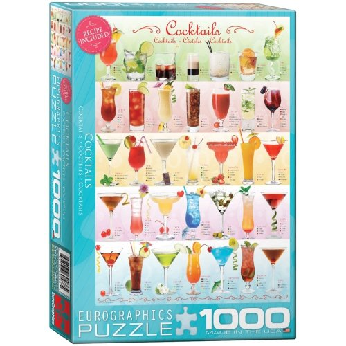 "Eg60000588 - Eurographics Puzzle 1000 Pc - Cocktails """"new"""""
